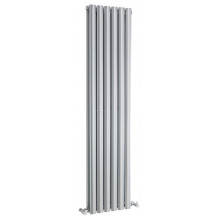 Hudson Reed Revive Double Panel Designer Radiator High Gloss Silver 1500x354 mm