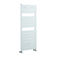 Hudson Reed Flat Panel Heated Towel Rail 1213x500 High Gloss White