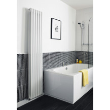 Hudson Reed Horizontal Salvia Designer Radiator High Gloss White 1500x383