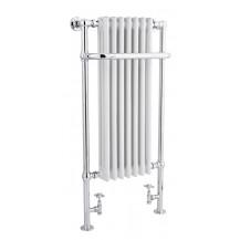 Hudson Reed Marquis Tall Heated Towel Rail Chrome / White 1130x553