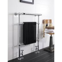 Hudson Reed Marquis Heated Towel Rail Chrome / Black 963x673