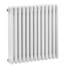 Hudson Reed Colosseum Triple Column Traditional Radiator High Gloss White 600x606