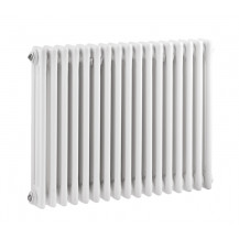 Hudson Reed Colosseum Triple Column Traditional Radiator High Gloss White 600x786