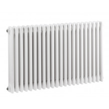 Hudson Reed Colosseum Triple Column Traditional Radiator High Gloss White 600x1011