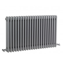 Hudson Reed Colosseum Triple Column Traditional Radiator High Gloss Silver 600x1011