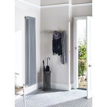 Hudson Reed Colosseum Triple Column Traditional Radiator High Gloss Silver 1800x381