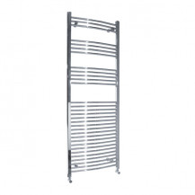 Beta Heat 1700 x 600mm Curved Chrome Heated Towel Rail