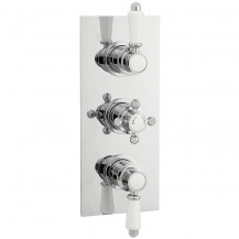 Premier Victorian Triple Thermostatic Shower Valve with a Plate