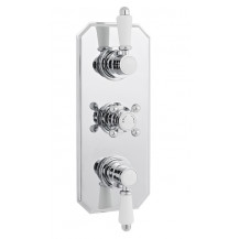 Premier Victorian Triple Thermostatic Shower Bevelled Valve with a Plate