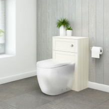 Nottingham Ivory WC Unit and Venus Back to Wall Toilet