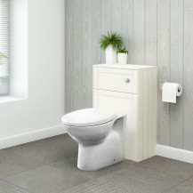 Nottingham Ivory WC Unit with Sofia Back to Wall Toilet