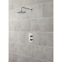 Premier Pioneer Square Twin Themostatic Shower Valve