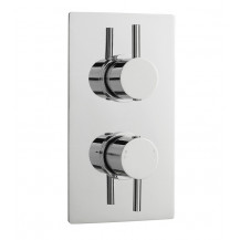 Premier Pioneer Round Twin Thermostatic Shower Valve With Diverter
