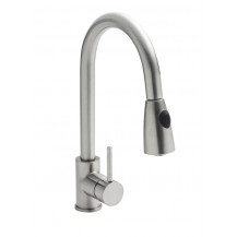 Premier Pull-out Single Leaver Mixer Kitchen Tap Brushed Steel