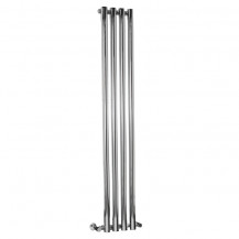 Langham 1600 x 255mm Single Round Panel Chrome Vertical Radiator