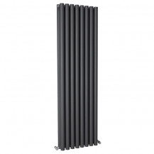 Langham 1600 x 465mm Double Round Panel Anthracite Vertical Radiator