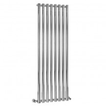 Langham 1600 x 535mm Single Round Panel Chrome Vertical Radiator
