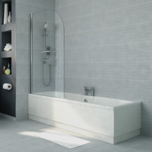 1600 x 700 Voss Left Hand Bath with Single Curved Screen