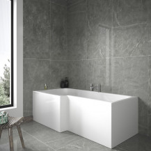 1675 Left Hand L-Shaped Shower Bath