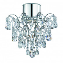 K5 Chrome Crystal Droplet LED Chandelier
