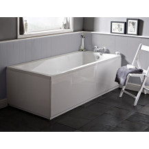 Rutland 1600 x 700 single ended square bath