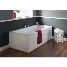 Chiltern 1700 x 750 double ended square bath with Bettacast