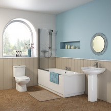 Burford 1700 x 700 double ended round bath with Bettacast