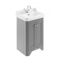 Hudson Reed Old London Storm Grey 560mm One Tap Hole Vanity Unit