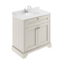 Hudson Reed Old London Timeless Sand 800mm One Tap Hole Vanity Unit with Marble Top