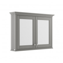 Hudson Reed Old London Storm Grey 1050mm Mirror Cabinet