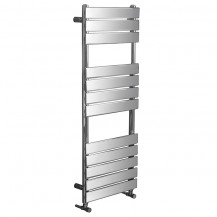 Lorenzo Beta Heat 1200 x 450mm Flat Chrome Heated Towel Rail