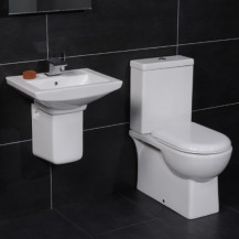 Salou 60 Semi Pedestal Bathroom Suite