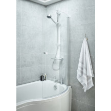Premier Curved P-Bath Screen with Knob