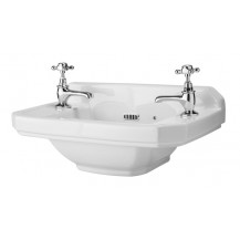 Hudson Reed Carlton Cloakroom Basin, 515mm Wide, 2 Tap Hole