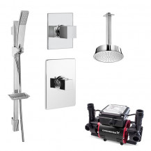 Quadro Concealed 2.0 Bar Twin Impeller Power Shower