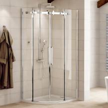 Aquafloe™ Elite ll 8mm 1000 x 1000 Frameless Sliding Door Quadrant Shower Enclosure