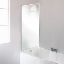 Straight Top 6mm Fixed Bath Shower Screen