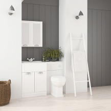 Nottingham 600 White Combination Unit with Park Royal™  Back to Wall Toilet