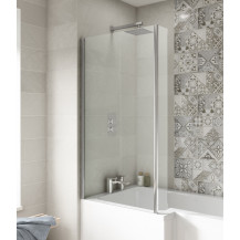 Hudson Reed Bath Screens Quattro Bath Screen