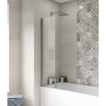 Premier 350mm Straight Fixed Bath Screen