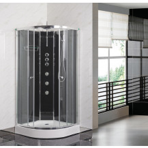 Premier Opus 900x900mm Carbon Black Quadrant Shower Cabin