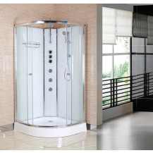 Premier Opus 900x900mm Polar White Quadrant Shower Cabin
