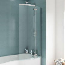 P Shaped 1500 Right Hand Bath with Legset, and 5mm Screen