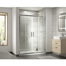 Premier Pacific 1400mm Double Sliding 6mm Door