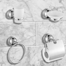 Middleton 4 Piece Bathroom Accessory Pack