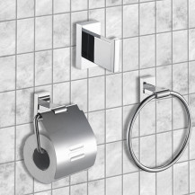 Novara 3 Piece Bathroom Accessory Pack