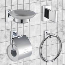 Novara 4 Piece Bathroom Accessory Pack
