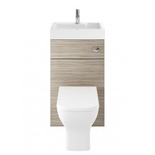 Premier Athena 2 In 1 500mm Driftwood Basin & WC Unit