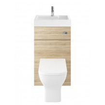 Premier Athena 2 In 1 500mm Natural Oak Basin & WC Unit