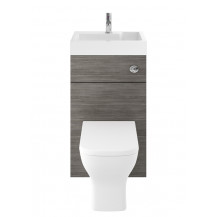 Premier Athena 2 In 1 500mm Grey Avola Basin & WC Unit